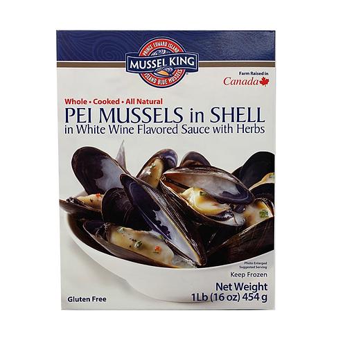 加拿大Mussel King 熟藍青口 - 白酒香草(1LB)