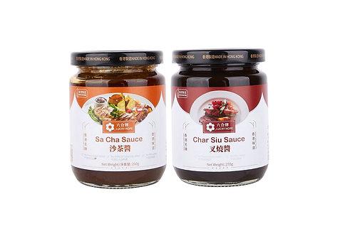 六合/天廚 - 沙茶醬及叉燒醬套裝