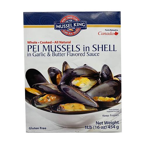 加拿大Mussel King 熟藍青口 - 香蒜牛油(1LB)