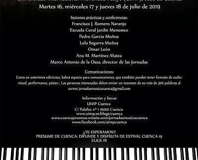 EN MARCHA LAS VIII JORNADAS DE DIDÁCTICA DE LA MÚSICA Y MUSICOLOGÍA DE LA UIMP DE CUENCA