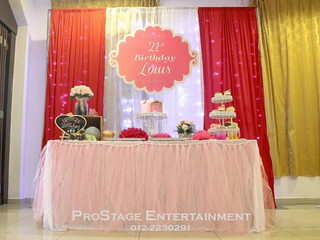 Sweet Pink Theme Decoration for Birthday Party