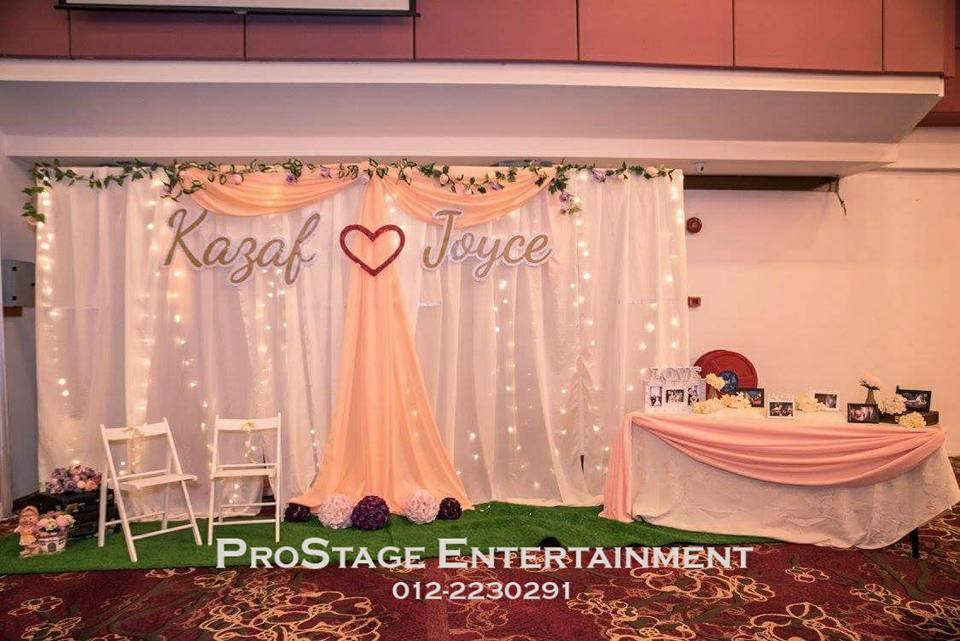 Sweet Peach Colour Theme Decoration Photobooth
