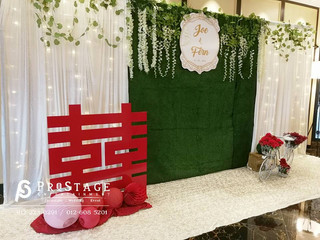 Lavish + Garden Style Photobooth with Rustic and Chinese Oriental Decoration + Instant Print Machine