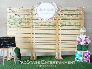 Rustic Theme Hall Decoration + Candy Bar