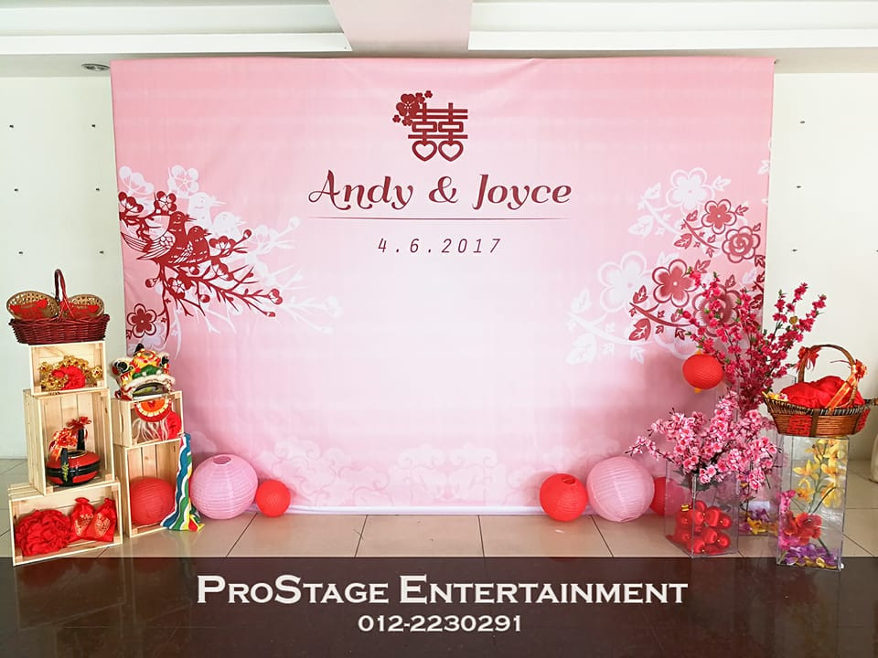 Chinese Oriental Theme with pink feels and chinese traditional decorations