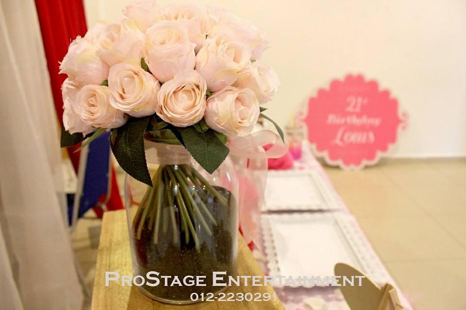 Pink rose deco.