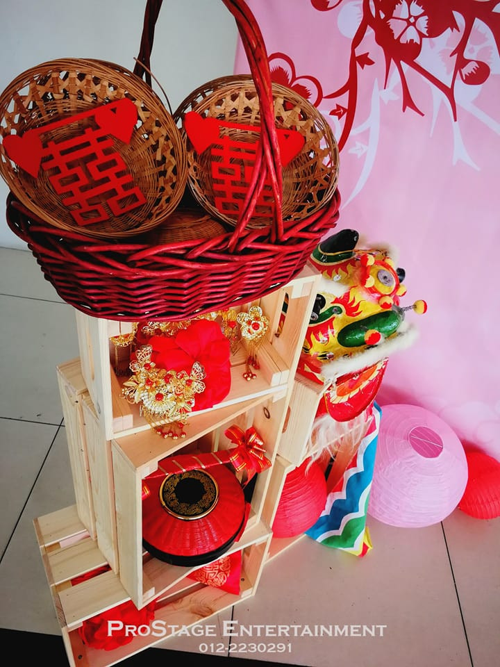 Traditional mini bamboo weaved basket with chinese word cuttings