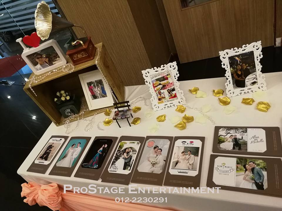 Photo album table closeup