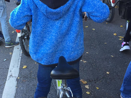 Fahrradtraining im Verkehrslehrgarten