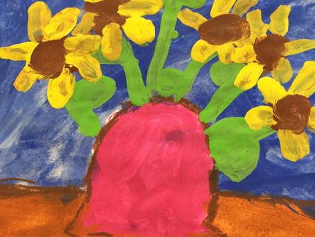 Thema Europa im Kunstunterricht: Wir malen wie der niederländische Künstler Vincent van Gogh