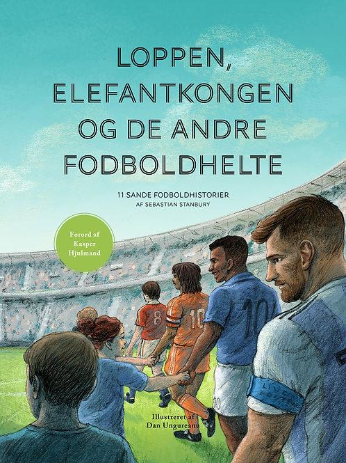 'Loppen, Elefantkongen og de andre fodboldhelte', 142 sider og 35 illustrationer