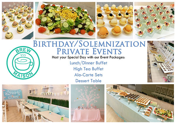 Brew Maison Private Event Company Corporate Birthday Solemnisation Cute Cheap Affordable Decoration Dessert Table