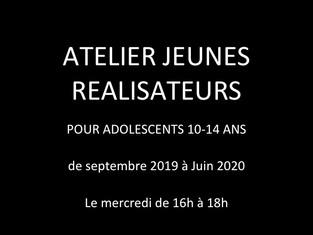 Atelier Jeunes réalisateurs 10-14 ans saison 2019-2020