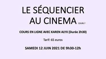 LE SÉQUENCIER AU CINEMA cours en ligne 7