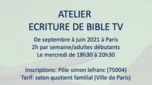 ATELIER ECRITURE D'UNE BIBLE DE SERIE TV