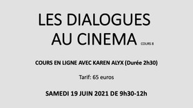 LES DIALOGUES AU CINEMA cours en ligne 8