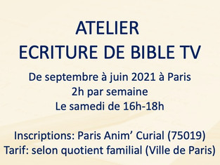 ATELIER ECRITURE DE BIBLE TV