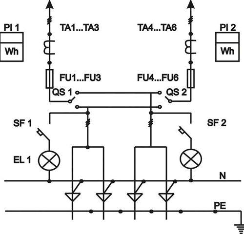 Схема ВРУ с двумя вводами