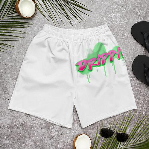 Men's Athletic Long Shorts Watermelon Drippy