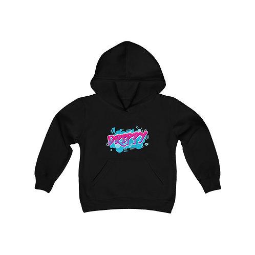 Youth Heavy Blend Hooded Sweatshirt Graffiti Drippy