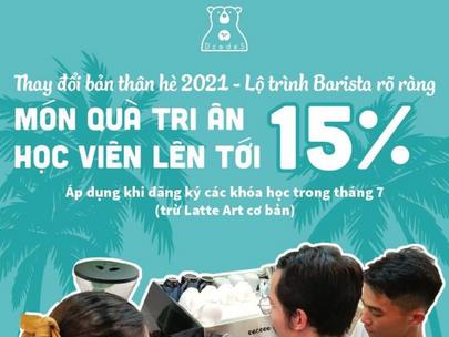 Ưu đãi 15% chương trình Barista chuyên nghiệp mùa Cô Vy