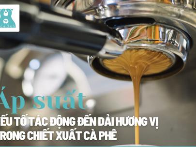 Áp suất - yếu tố tác động đến dải hương vị trong chiết xuất cà phê