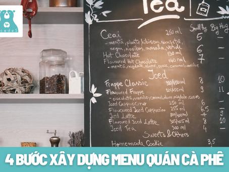 4 bước xây dựng menu quán cà phê cho các Barista