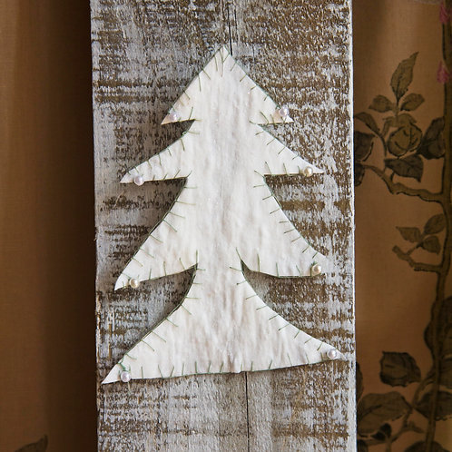 Pressed and stitched cotton Xmas tree