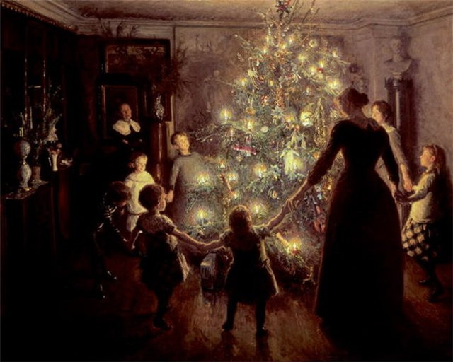Christmas Tree A Hundred Years Ago