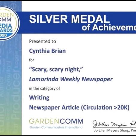 Cynthia Brian Wins National Writing Award