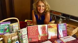 cyntha brian with books