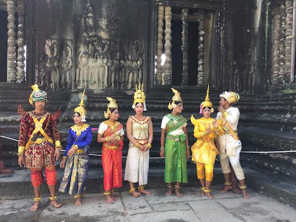 Cambodian Dancers at Angkor Wat