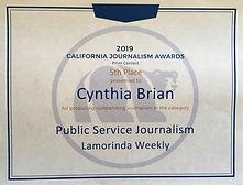 Journalism Award for LW.jpg