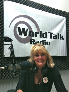 Cynthia Brian on air at Voice America