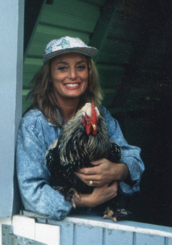 Cynthia Brian and Her Rooster