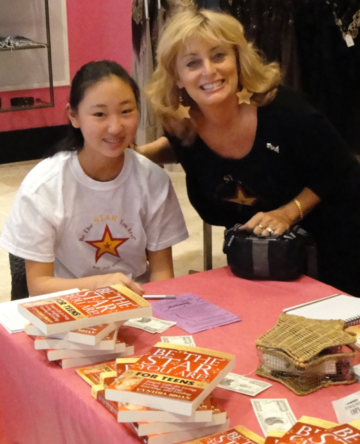 Cynthia Brian with Teen Contributor