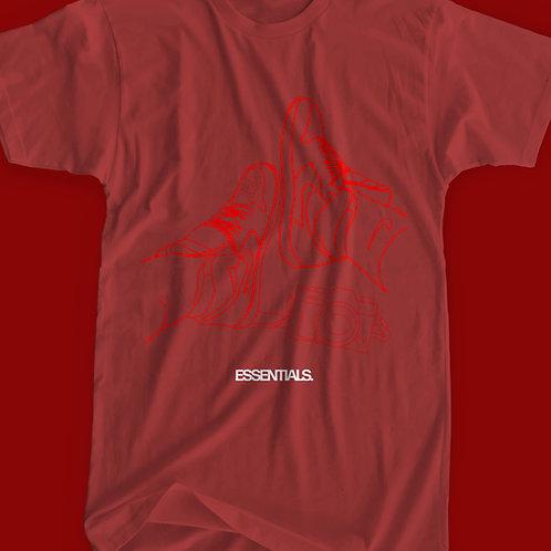 ESSENTIALS TEE RED