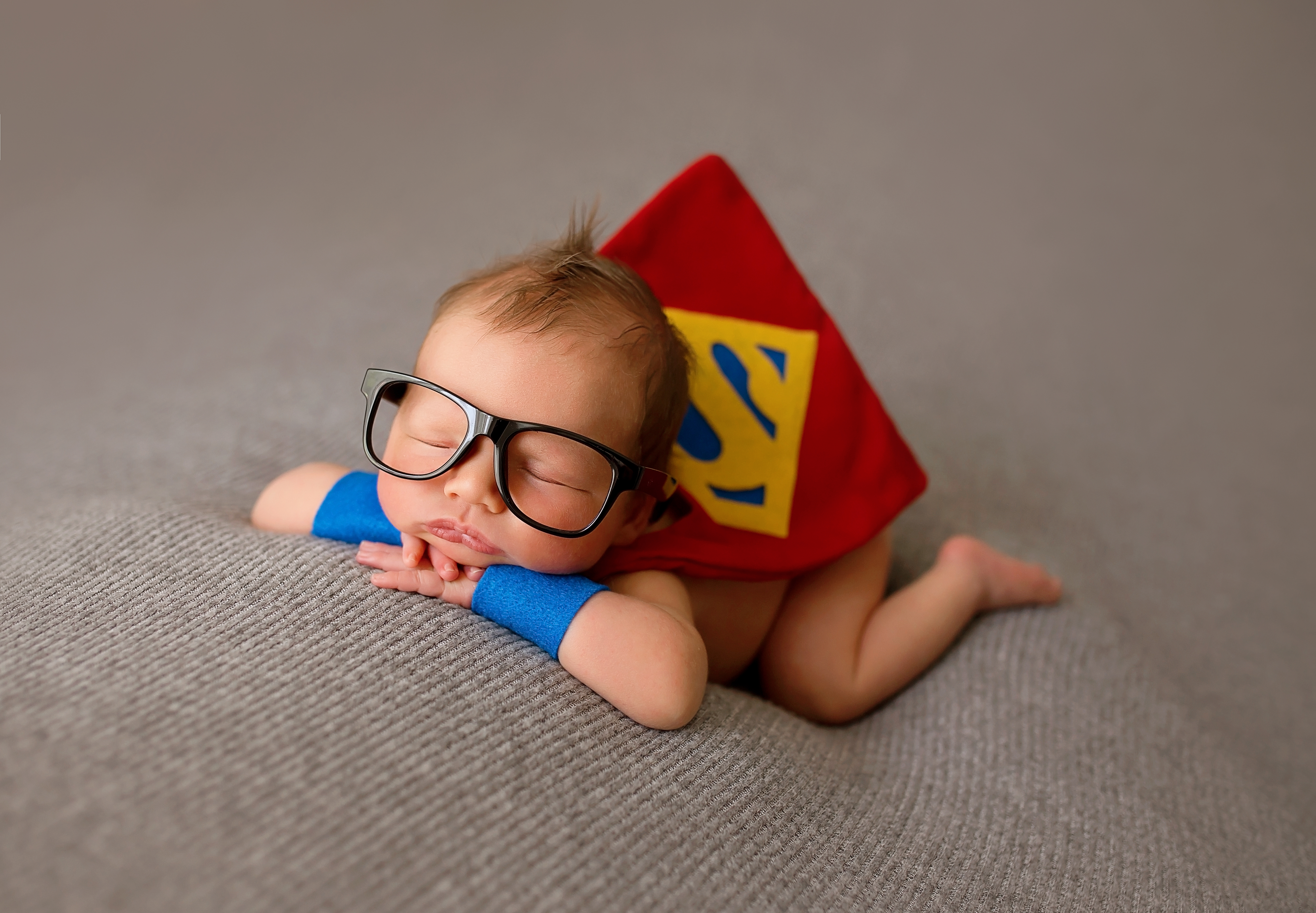 Superhero themed newborn session