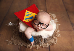 Superman theme newborn shoot