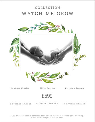Watch me grow package Price list