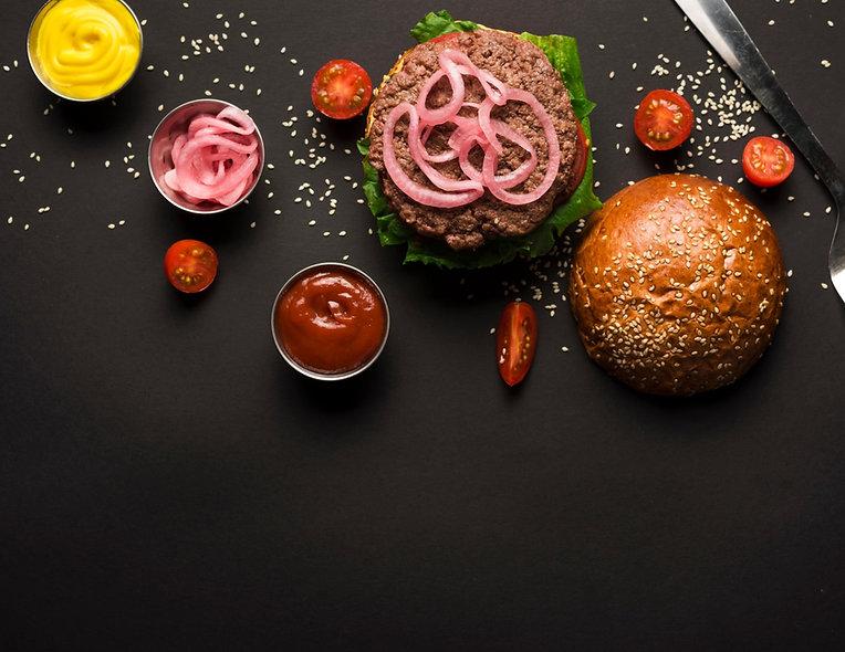 organic pepper sauce burger
