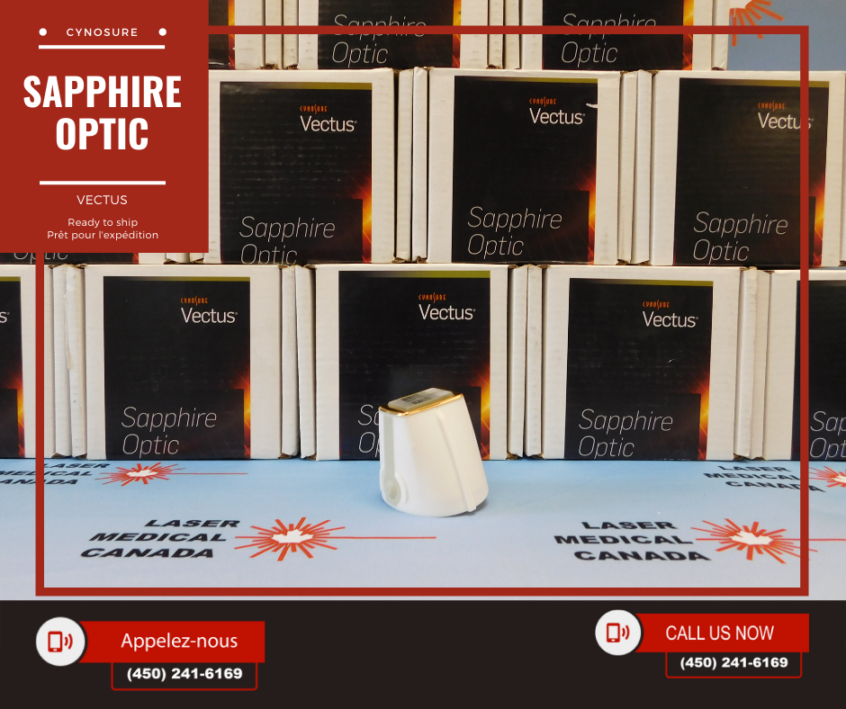 cynosure VECTUS Sapphire optic Laser Medical Canada Pièce à main Vectus de Cynosure & Saphir Optique.