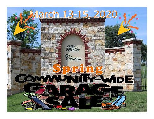 2020 - Spring Garage Sale