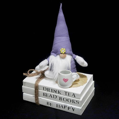 Book Stack Drink Tea