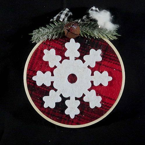 Ornament, Hoop with snowflake