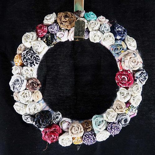 Fabric Wreath, Roses