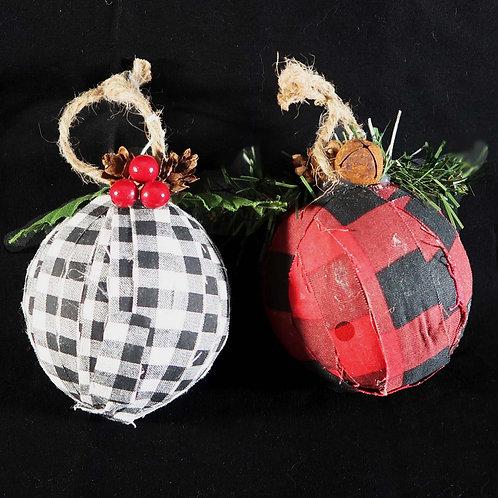 Ornament, Plaid ball
