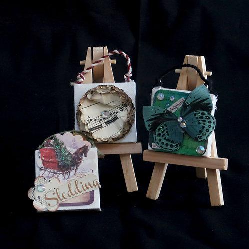 """Ornament, Mini Painting 2"""" x 2"""""""