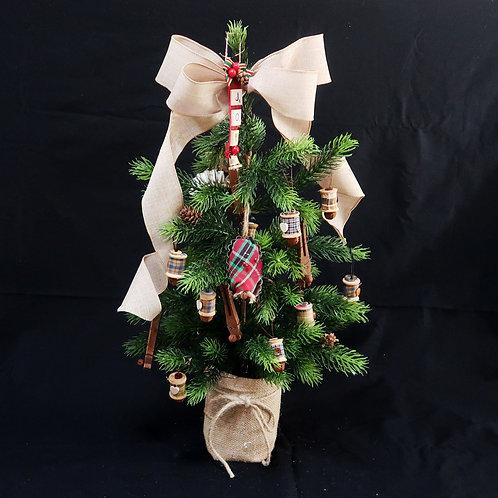 Tree with Wood Spools