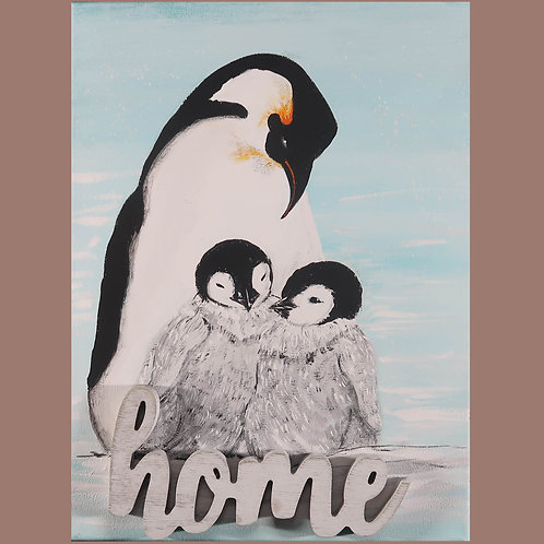 Painting, Penguins Home #2